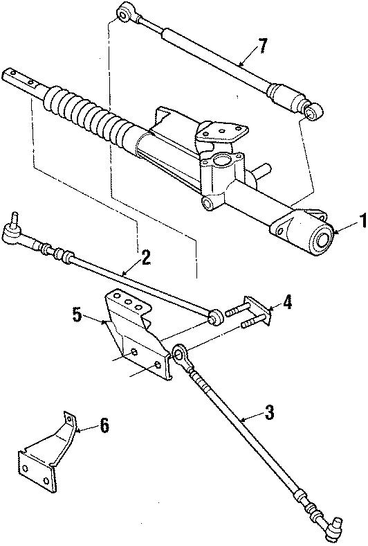Volkswagen Fox Carrier  Outer Tie Rod Lower Bracket  Tie Rod Assembly Mount Bracket  From