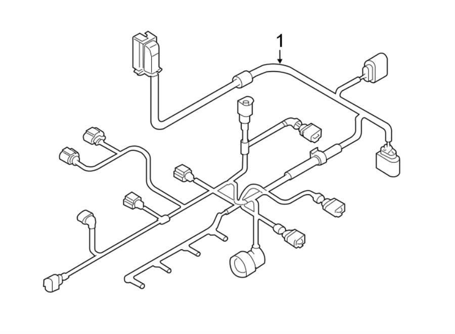 Volkswagen Jetta Wagon Engine Wiring Harness  2 0 Liter Gas  Manual Trans
