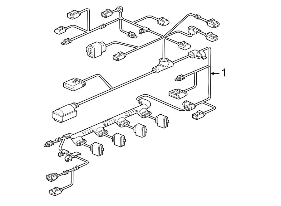Volkswagen Jetta Gli Engine Wiring Harness  Liter  Trans