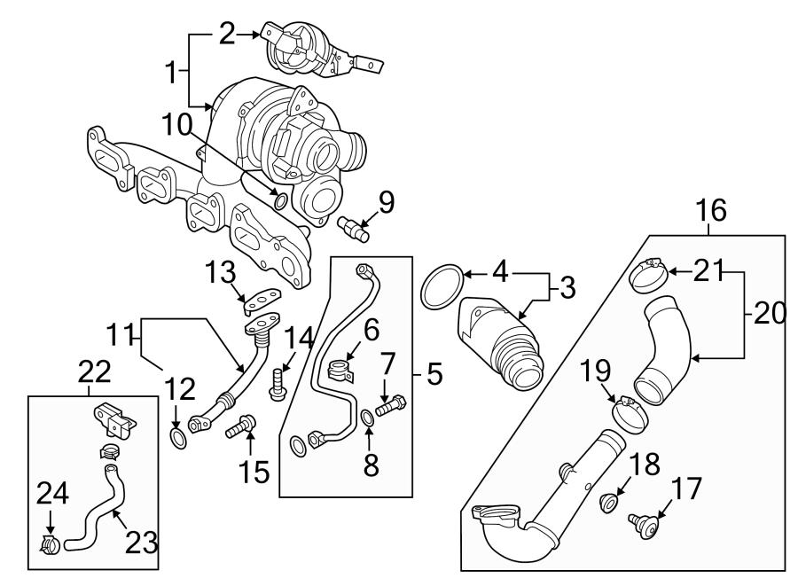 Volkswagen Jetta Line  Turbocharger  Fitting  Ring  Oil  2