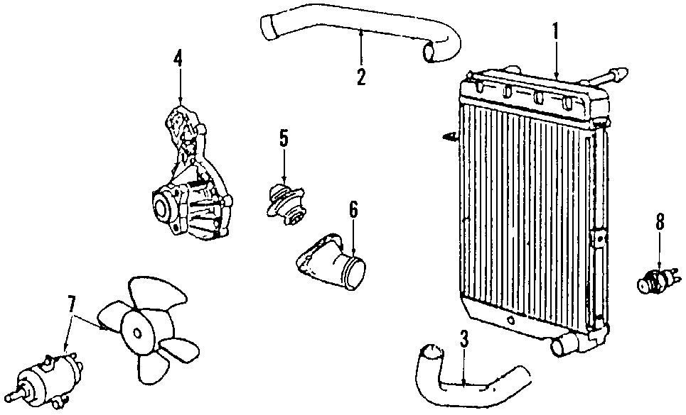 Volkswagen Vanagon Engine Coolant Thermostat  Audi
