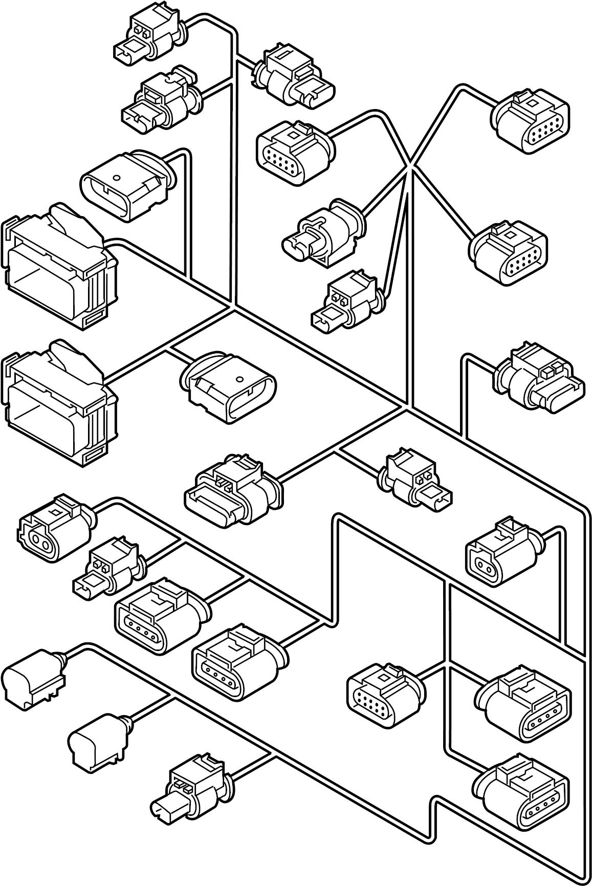 volkswagen passat engine wiring harness  liter  trans