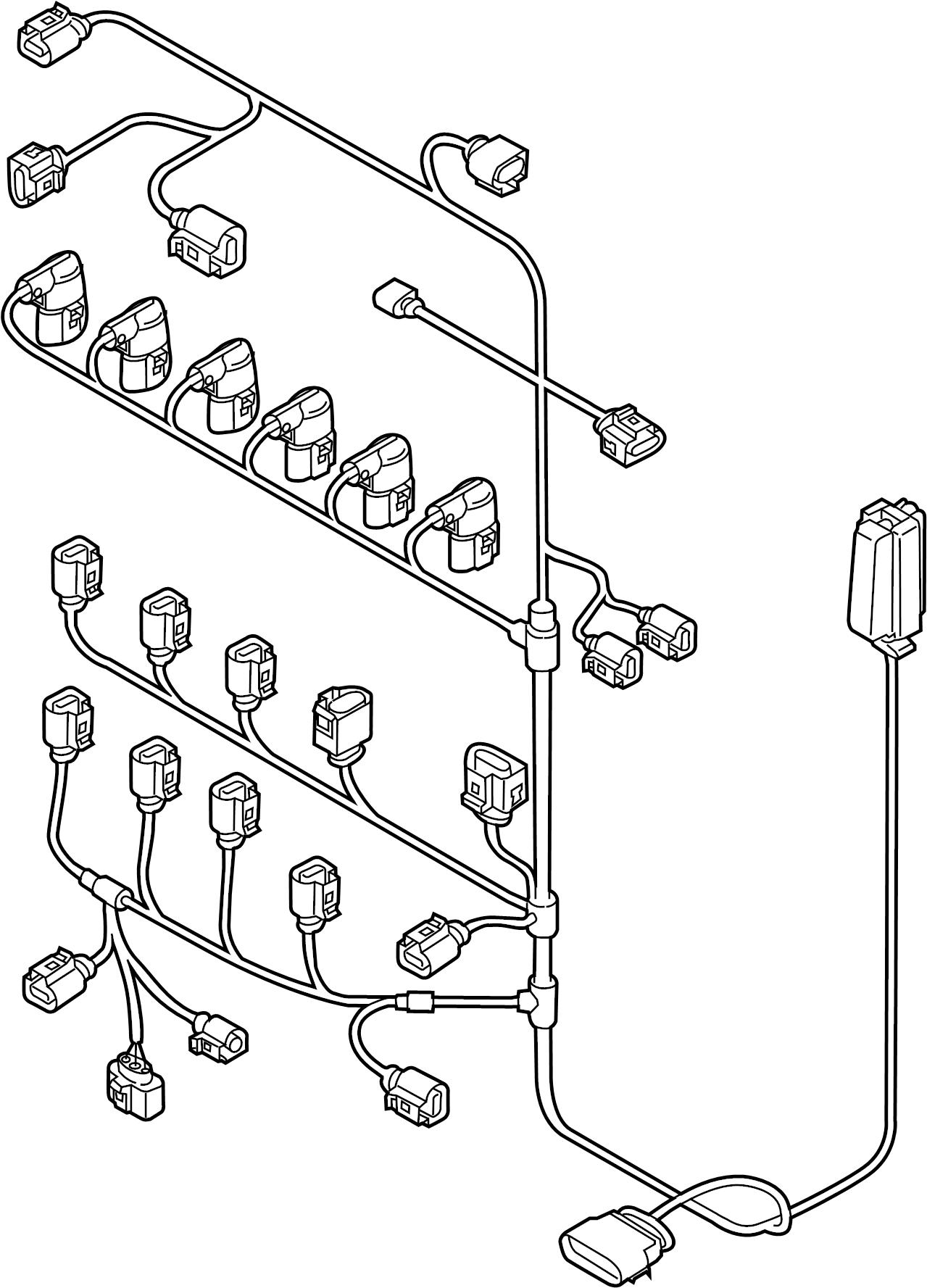 volkswagen passat engine wiring harness  3 6 liter