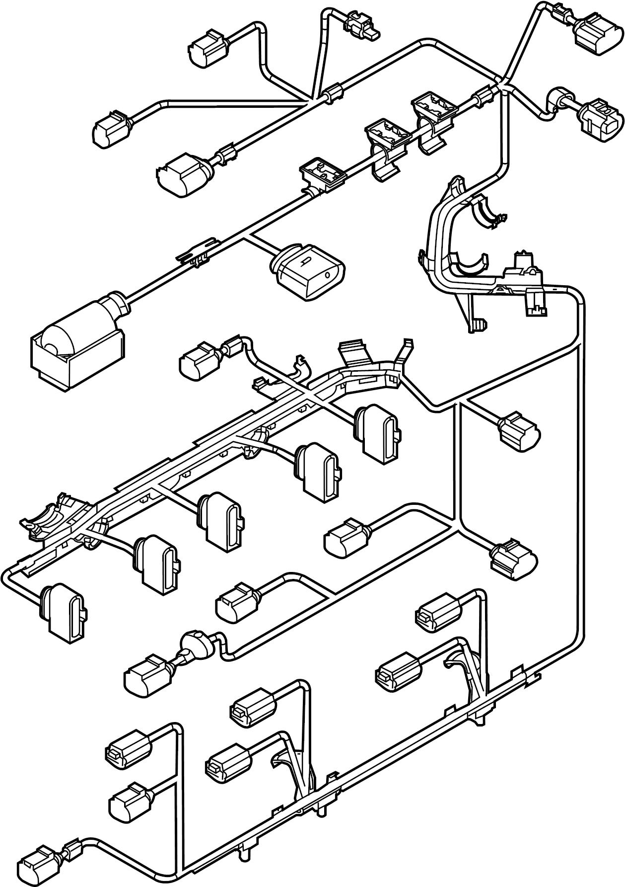 volkswagen passat engine wiring harness
