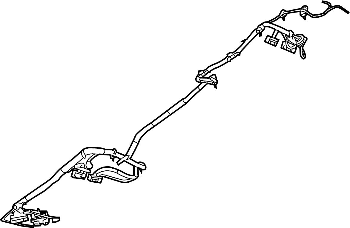 Volkswagen Routan Console Wiring Harness  Center W  O